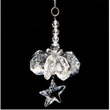Cut Crystal Star Cascade Hanging Suncatcher Ornament