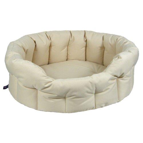 Country Dog Heavy Duty Oval Waterproof Softee Beds Cream Size 5 - 76x64x24cm