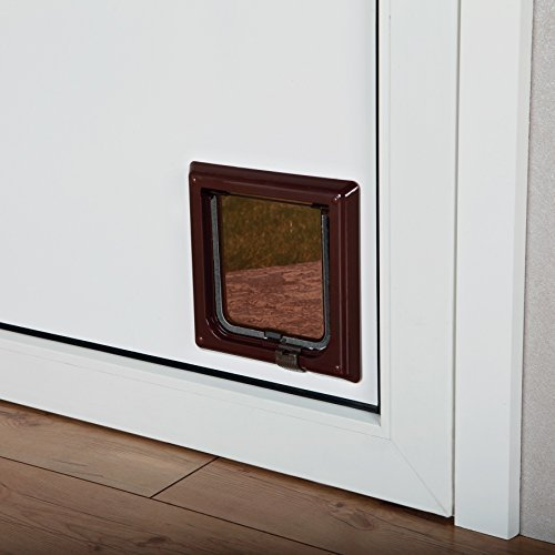 Trixie 38603 2-way Cat Flap Brown - 21 2way 2wege Oneway Doorcm -  trixie brown 21 38603 2way cat flap 2wege oneway door cm