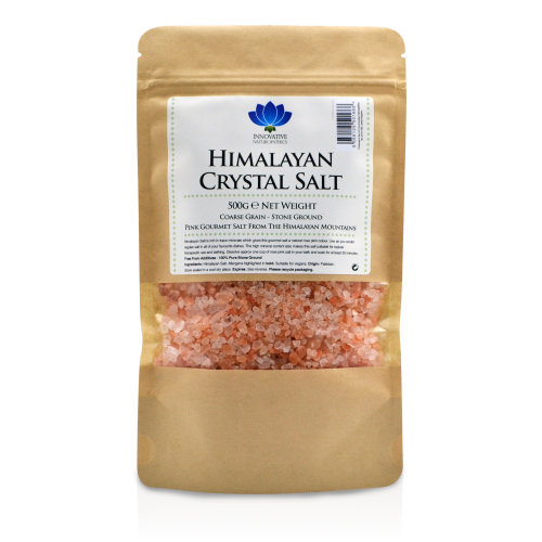 Innovative Naturopathics Himalayan Salt - Premium Stone Ground Coarse Salt - 500g Packet