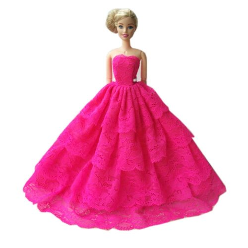 Beautiful Princess Wedding Costume Party Evening Dress Dolls Dress-up Costume Gift Idea, B