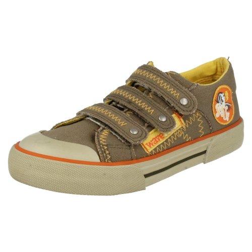 Boys Startrite Casual Canvas Shoes Crush - Khaki Canvas - UK Size 1.5F - EU Size 33.5 - US Size 2.5