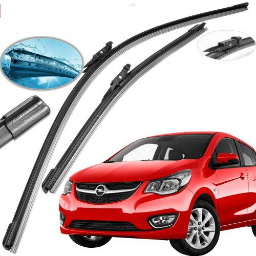 "Vauxhall Corsa Front Windscreen 26"" 16"" Flat Aero Wiper Blades Set"