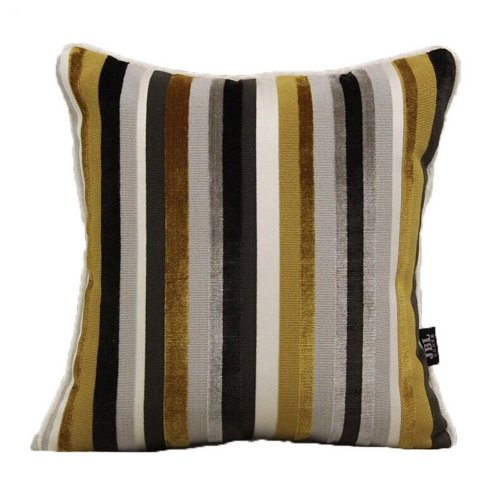 The High-End Modern Fringe Cut Velvet Sofa Cushion and Pillow--Yellow