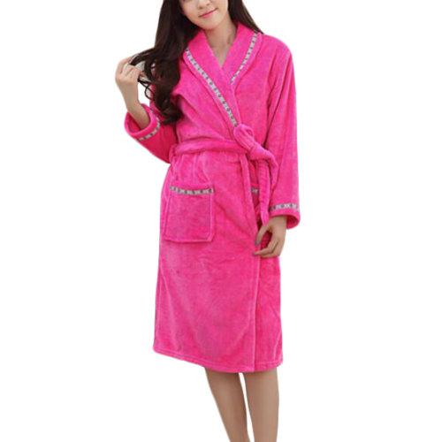 Casual Pajama Set Warm Sleepwear Women/Lovers Flannel Nightgown X-large-A3