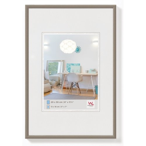 Walther New Lifestyle KV015B Plastic Picture Frame, Plastic, steel, 42 x 59,4 cm (DIN A2)