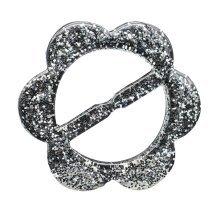 Transparent Fashion Flower Shape Scarf Ring Wrap Holder 5pcs