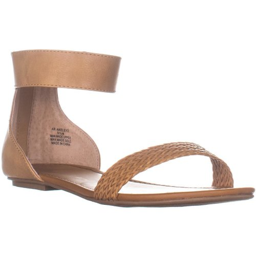 AR35 Keley2 Ankle Strap Flat Sandals, Tan, 7.5 UK