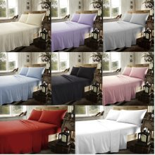 Brushed Cotton Flannelette Flat Sheets Thermal Flannel Sheets All Sizes