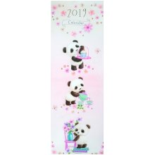 2019 Illustrated Panda Bear Slim Wall Calendar Christmas Birthday Gift Illustrations Animals