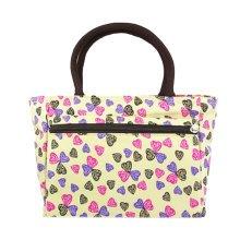 Ladies Creative Zipper Purse Handbag Colorful Hearts Printed Tote Bag