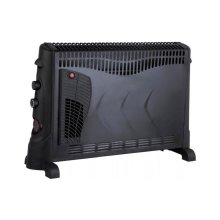 Kingavon BB-CH506 2kW Convector Heater with Turbo and Timer - Black