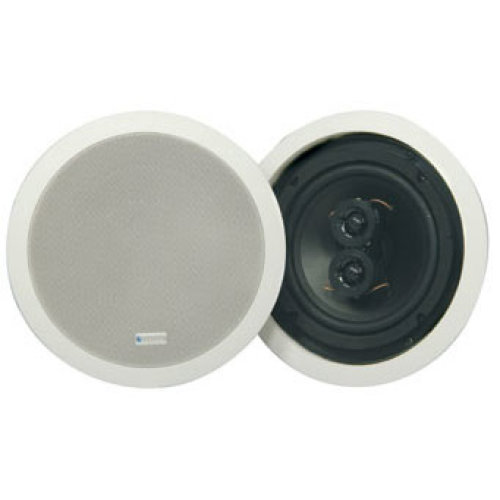 Ceiling Mount 6.5'' Single Speaker With Dual Coil And Stereo Connections White (single)