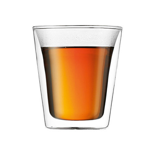 Bodum UK Canteen Double Walled Glasses, Pair - 6 oz