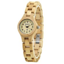 Bewell Women's Natural Maple Watch - W123A