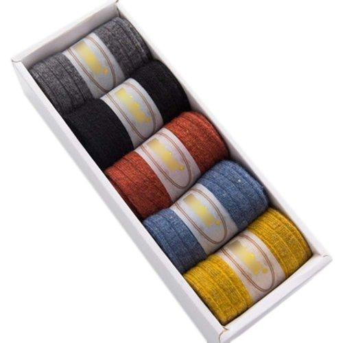 5 Pairs Adult Floor Socks Sleep Socks Winter Casual Socks #6