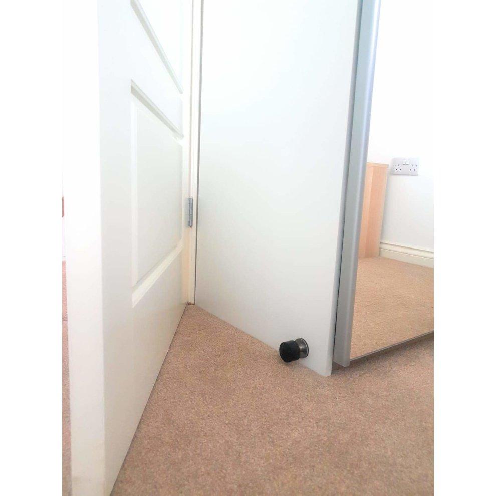 Adhesive mounted door stopper door stop protect furniture walls from slamming doors