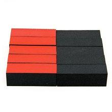 Baisidai 10 PCS Buffer Block for Nail Art Tool (Red Black)