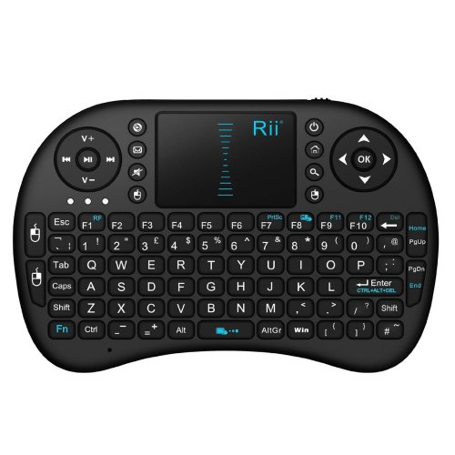 Rii i8 2.4GHz RF Mini Wireless Keyboard with Touch Pad Mouse Black