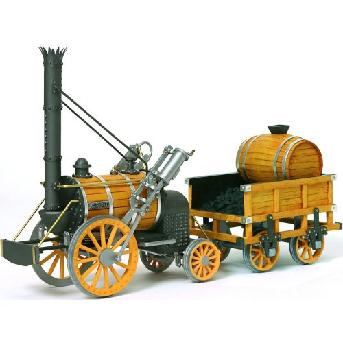 Occre Stephensons Rocket Train Scale Model Wooden Display Kit