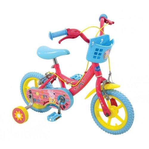 38c3362faf494 Peppa Pig Girls Kids Bike Bicycle Stabilisers Basket 12
