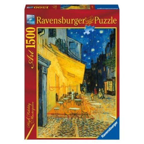 Ravensburger Van Gogh Caf Terrace at Night 1500 Piece Jigsaw Puzzle for Adults Softclick Technology Means Pieces Fit Together Perfectly