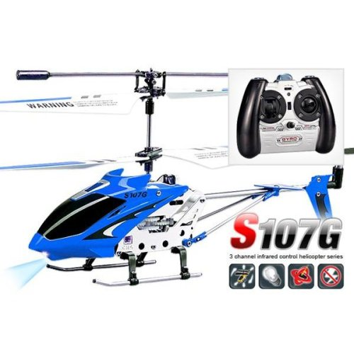Syma S107G Infrared Controlled Helicopter with Gyroscopic Stability Control - Blue