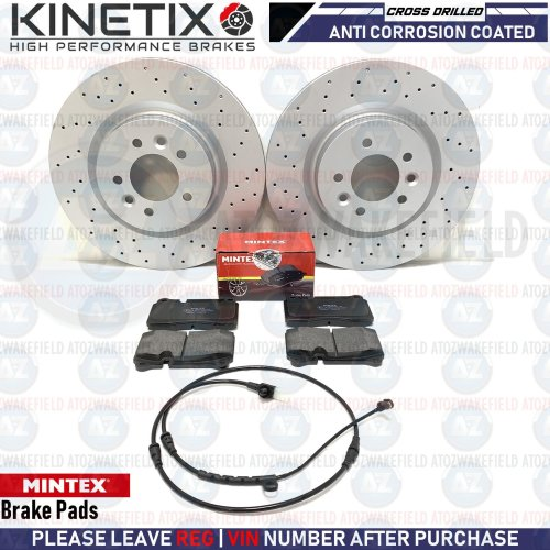 FOR RANGE ROVER SPORT 05-13 FRONT DRILLED BRAKE DISCS MINTEX PADS WIRE 360mm