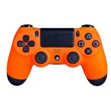 DualShock 4 Wireless Controller for PlayStation 4 - Soft Touch PS4 Remote - Added Grip for Long Gaming Sessions - Multiple Colors Available (Orange)