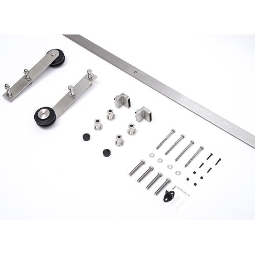 Homcom Stainless Steel Sliding Barn Door Kit