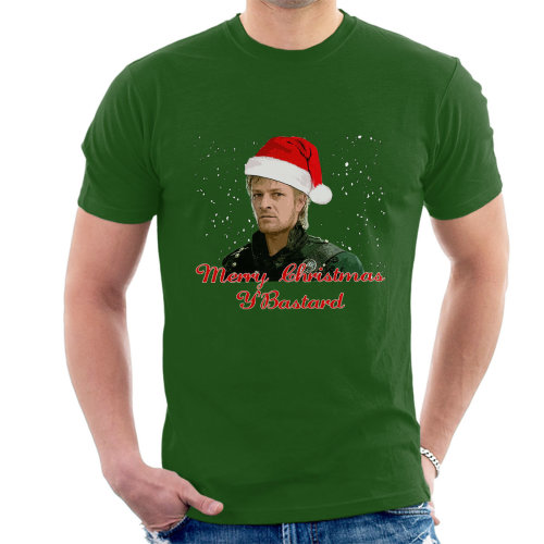 Sharpe Merry Christmas Bastard Sean Bean Men's T-Shirt