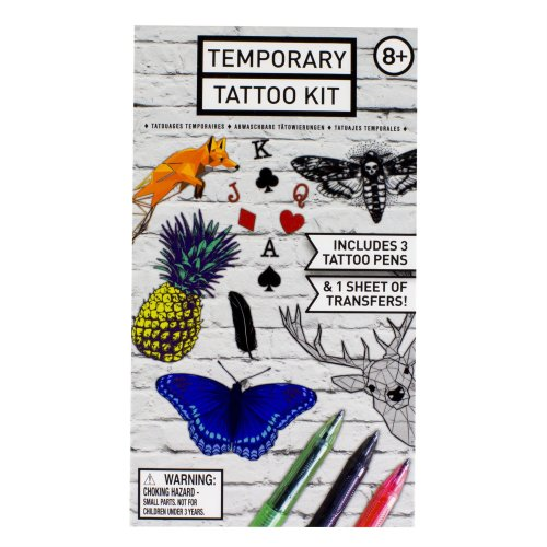 Temporary Tattoo Kit Pen Stickers Fake Body Art Waterproof Removable Pack
