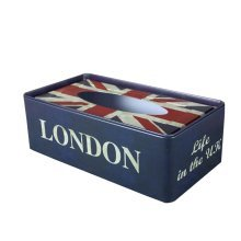 [LONDON LIFE] Iron Box Rectangle Random Carton Tin Box Tissue Paper Holder
