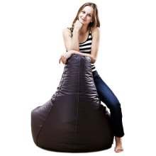 ADULT XXL LARGE GAMER BEANBAG CHAIR SEAT LEATHER BEAN BAG BAGS GAMING GAME POD [Chocolate Brown]