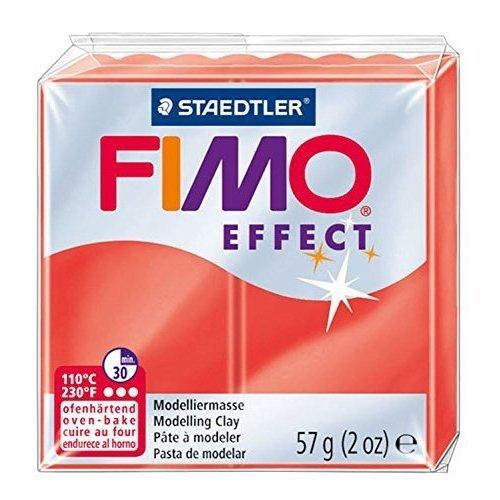 Staedtler - Fimo effect 57g, Translucent Red