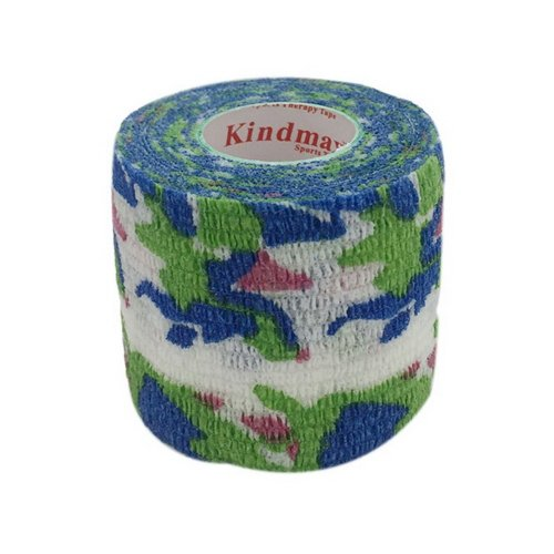 3 Rolls 2 Inches X 5 Yards Elastic Self Adhesive Bandages For Sports, Green Camo