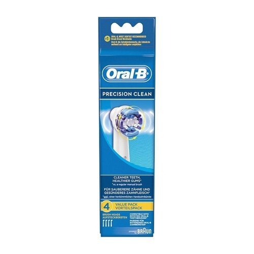 Oral-B PrecisionClean Electric Toothbrush Replacement Heads Powered Braun 4 Pack