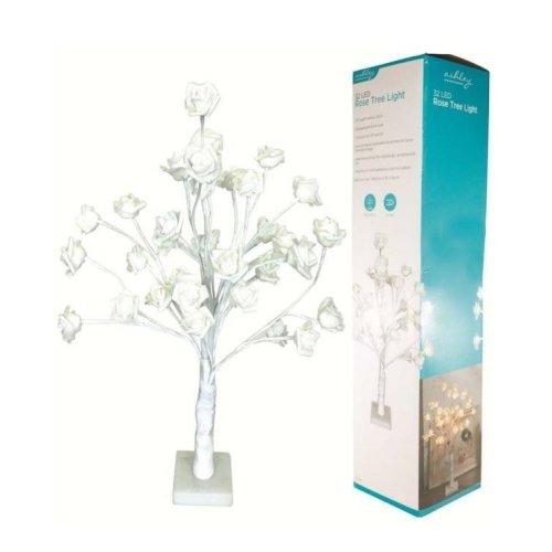 32 Led Lights Rose Tree Warm White 60Cm Home Christmas Decoration