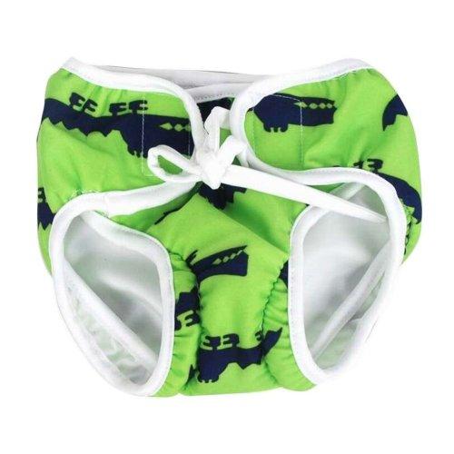 [Green] Reuseable Baby Swim Diaper Lovely Infant Swim Nappy Swimwear
