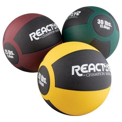 Champion Barbell Heavy Medicine Ball 25 lb Maroon