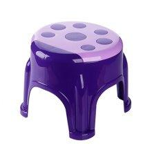 Cute Cartoon Creative Anti-skidding Plastic Stool Footstool for Children, Ladybug, Purple (Large)