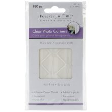 "MultiCraft Adhesive Photo Corners-Clear, .87"" 180/Pkg"