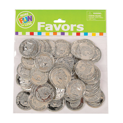 Pack of 144 Shiny Gold Coins