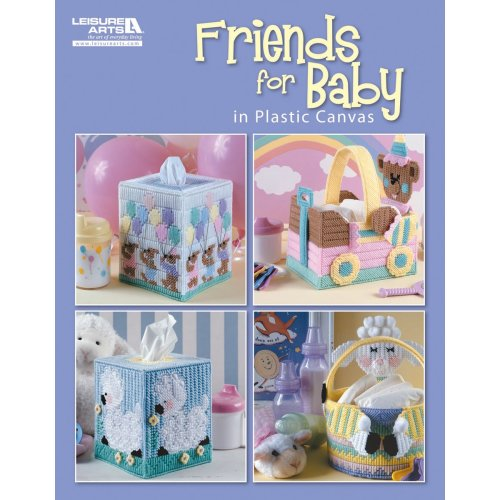Leisure Arts-Friends For Baby In Plastic Canvas