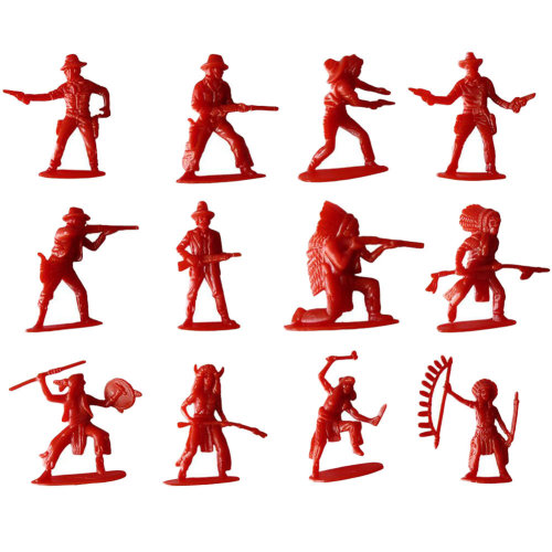 60 Pcs Toy Soldiers Gifts /Cars/Trucks /Tractors/Toy Guns Models -Red 1:36