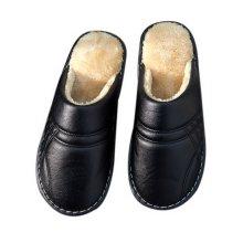 Couple Cotton Slippers Men Waterproof Non-slip Slippers Household Slippers Black