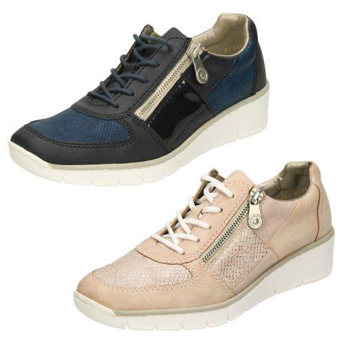 Ladies Rieker Trainer Style Shoes 53714