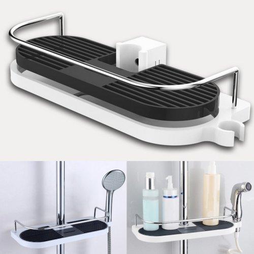 Honana BX-646 Bathroom Pole Shelf Shower Storage Caddy Rack Organiser Tray Holder