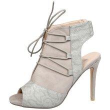 Dahlia Womens High Stiletto Heel Cut Out Peep Toe Ankle Boots