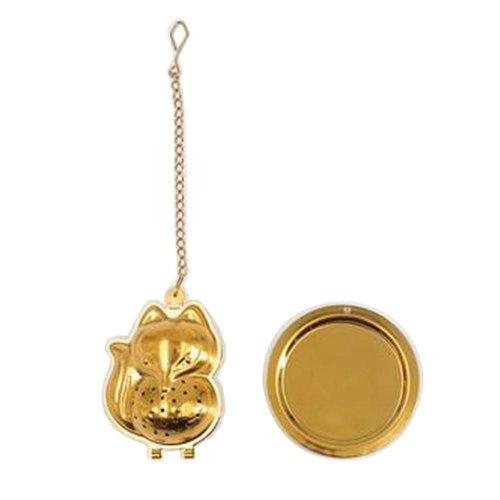 [Gold Fox] Creative Spice/Tea Ball Strainer Tea Filter With Drip Trays